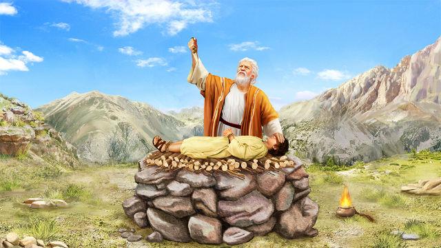 Abraão oferecendo Isaac