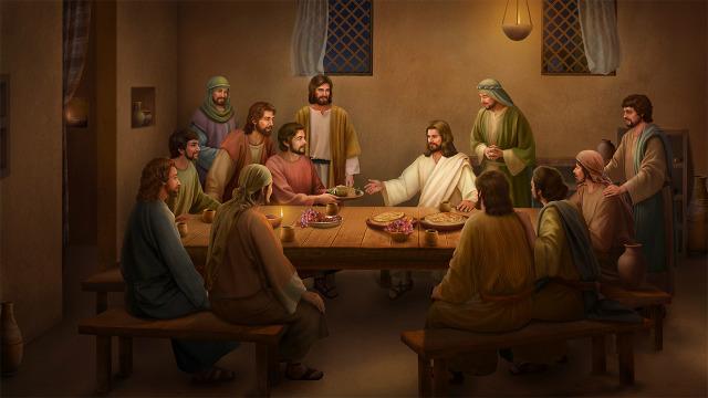 Jesus come pão e explica as Escrituras após a Sua ressurreição