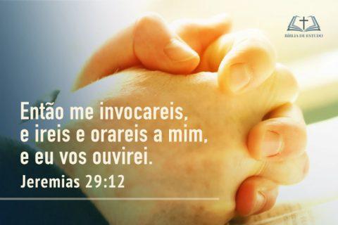Jeremias 29:12 Na angústia, clame a Deus