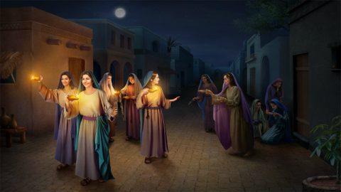 o reino dos céus será semelhante a dez virgens que, tomando as suas lâmpadas