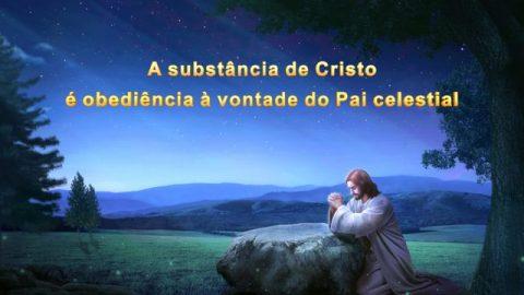 A substância de Cristo é obediência à vontade do Pai celestial