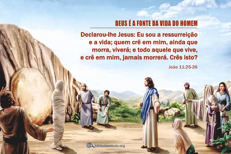João 11:25-26 | Deus é a fonte da vida do homem