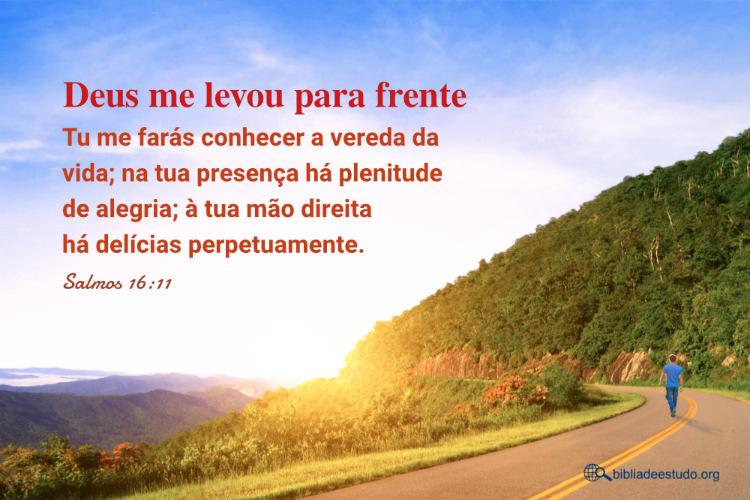 Salmos 16:11 | Deus me levou para frente