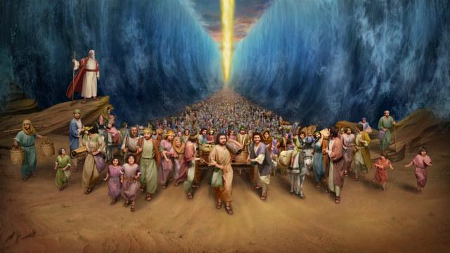 Deus Guia os Israelitas a Atravessarem o Mar Vermelho