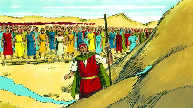 Êxodo - Moisés Bate na Rocha e a Água Sai