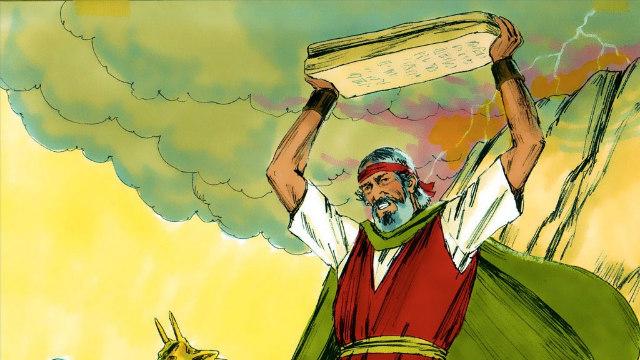 Êxodo - Moisés Quebra as Tábuas do Testemunho com Raiva