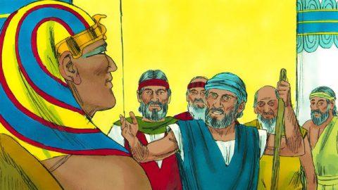 Êxodo - Moisés e Aarão confrontam o Faraó