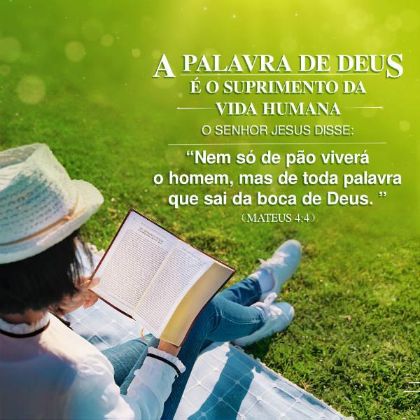 """O Senhor Jesus disse: """"Nem só de pão viverá o homem, mas de toda palavra que sai da boca de Deus."""" Mateus 4:4"""