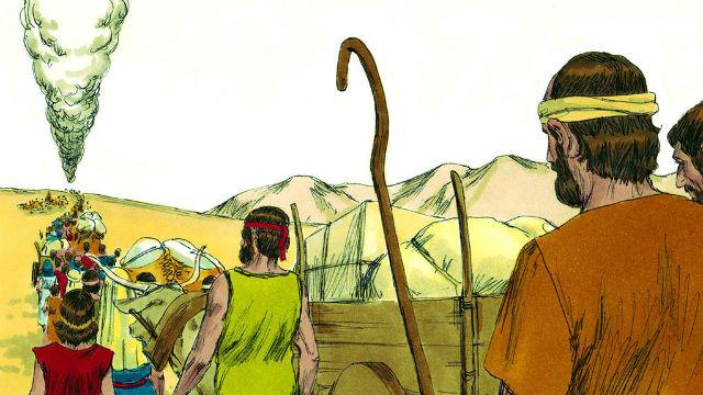 Números - Jeová Guia os Israelitas com Nuvens