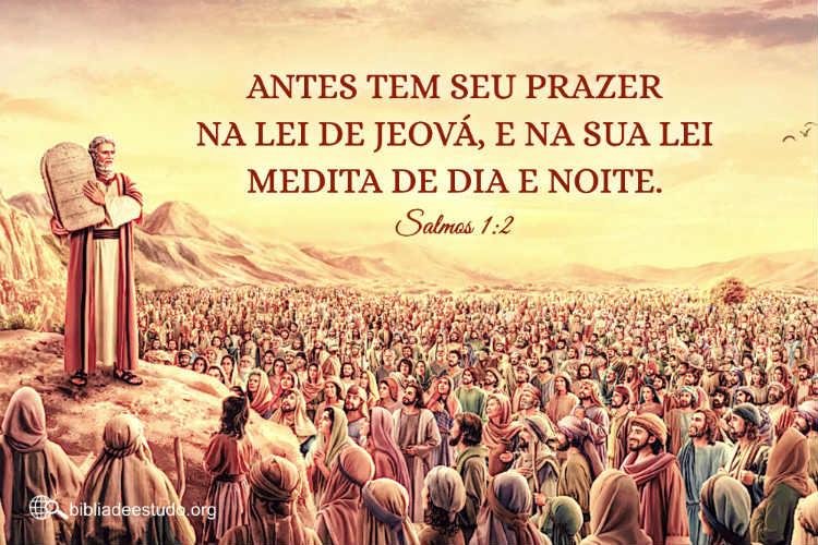 Salmos 1:2 | Somente amar a lei de Jeová é abençoado
