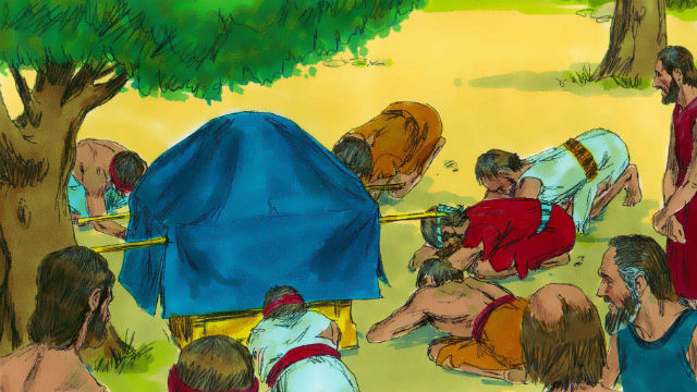 Os israelitas estão orando ao Senhor