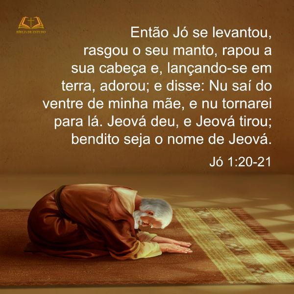 Jó 1:20-21 - Fé de Jó