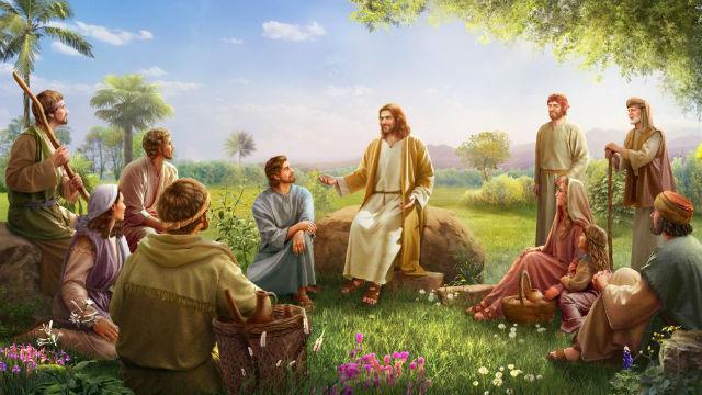 Imagem do Senhor Jesus pregando
