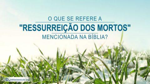 """O que se refere a """"ressurreição dos mortos"""" mencionada na Bíblia?"""