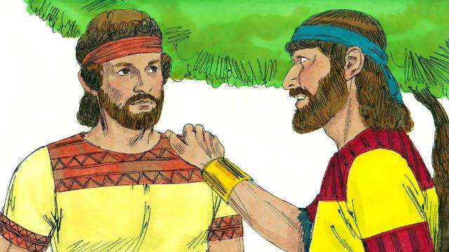 História de Davi e Jônatas - Jônatas Ajuda Davi