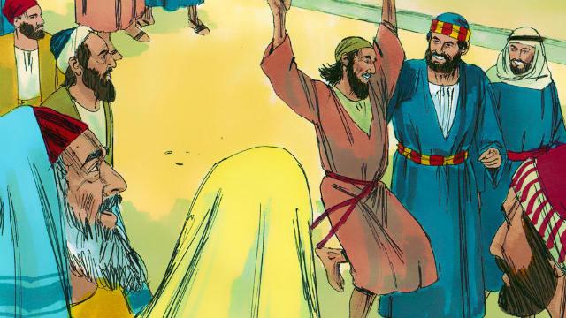 Pedro cura um mendigo aleijado
