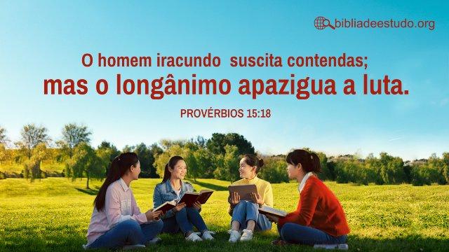 Versículo do Dia: Provérbios Capítulo15:18