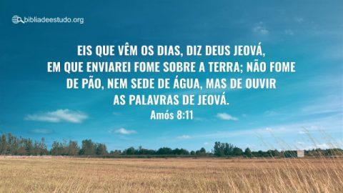 Versículo do Dia: Devocional Amós 8:11